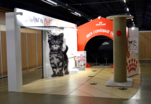 Conception de stand par Media Product pour Royal Canin