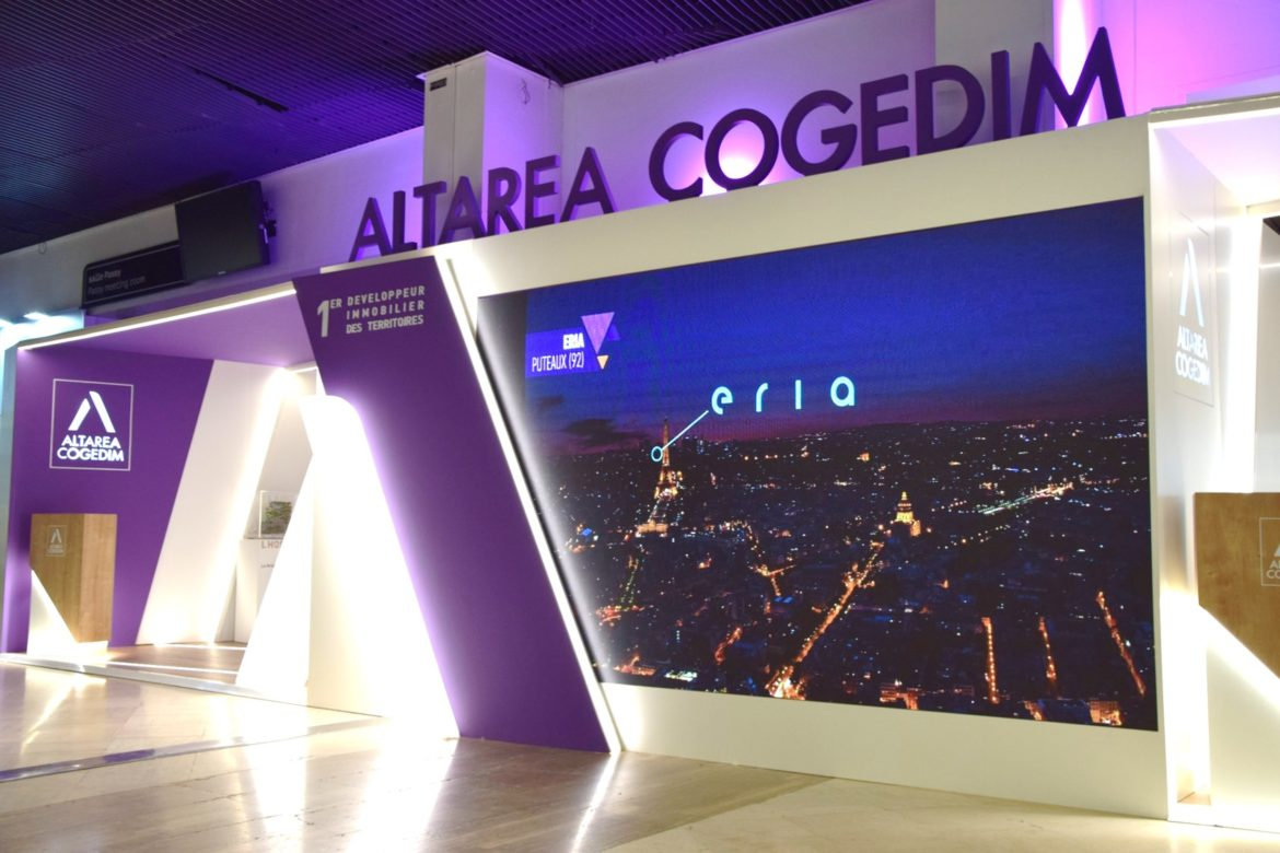 Stand Altarea Cogedim - SIMI 2018 - Réalisation Media Product