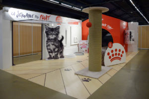 MEDIA PRODUCT a agencé 2 surfaces de stands pour Royal Canin sur le salon Animal Expo en 2018