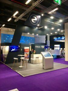 Stand réalisé par Media Product pour la société Eclipse sur le salon Aircraft Interior's 2019
