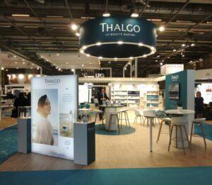 Thalgo a confié la réalisation de son stand de 60m² à Media Product