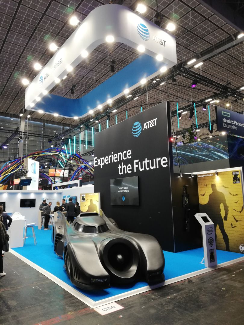 AT&T a confié l'agencement de son stand à MEDIA PRODUCT sur le salon Viva Tech 2019